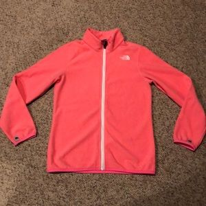The North Face Salmon Pink zip up Jacket 14/16
